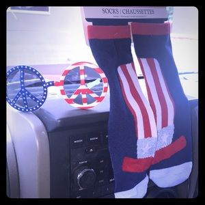 4th of July socks and sunglasses brand new